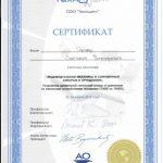 Сертификат Гончар Светланы Викторовны